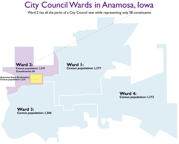 map of Anamosa districts