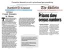 thumbnail for handout with Connecticut editorials about prison gerrymandering