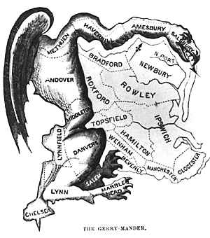 cartoon that put the term 'Gerrymander in our lexicon