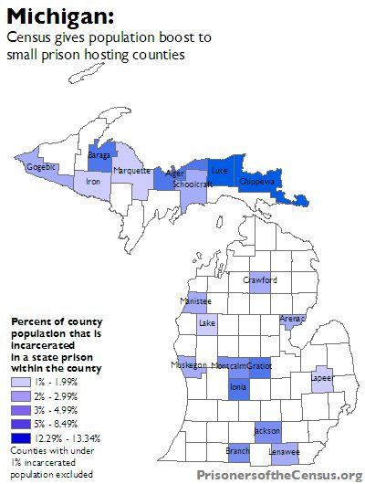 How Census Bureau counts prisoners undercounts Michigan\'s cities ...