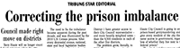 thumbnail of Terre Haute Tribune Star editorial in praising city council for ending prison-based gerrymandering