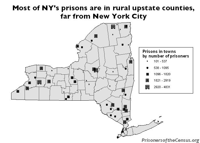 New York Prisons by size